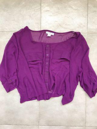 Cotton On Sheer Purple Top