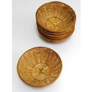 ★Good Stuff★Stylish★Woven Rattan Round Basket Bowl [S] #EndgameYourExcess