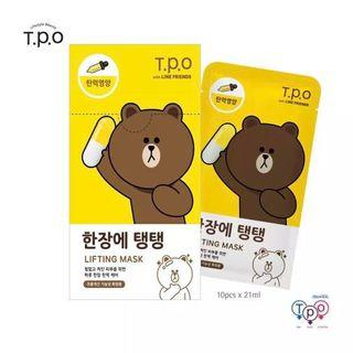 T.P.O LINE FRIENDS Lifting Face Mask