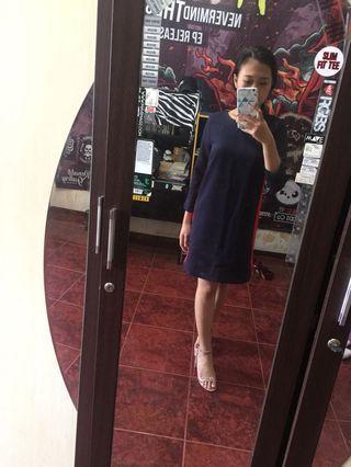 H&M Baju Dress Blue