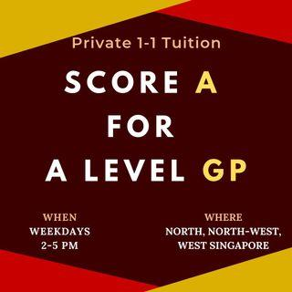1-1 General Paper (GP) Tuition