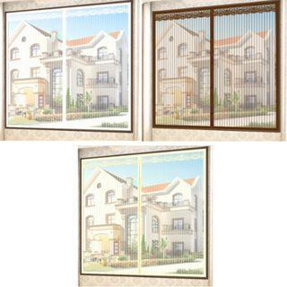 防蚊窗網-魔術貼款($98up 歡迎訂做. 包送貨)..窗紗門簾沙窗磁性磁鐵窗簾自裝可拆卸家用