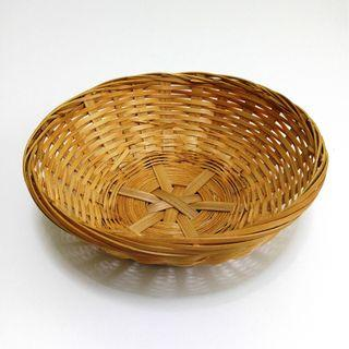 ★Good Stuff★Stylish★Woven Rattan Round Basket Bowl [M] #EndgameYourExcess