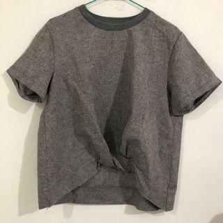 this is april grey blouse