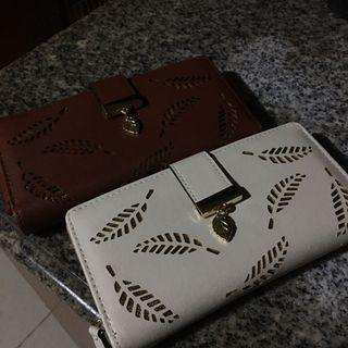 FREE SHIPPING!! Korean Leaf Long Wallet