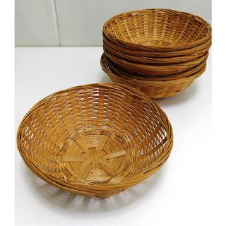 ★Good Stuff★Stylish★Woven Rattan Round Basket Bowl [L] #EndgameYourExcess
