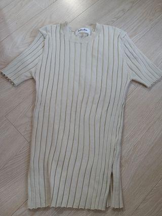 韓國米色線衫