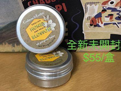 全新Crabtree & Evelyn English Honey and Peach Blossom All Purpose Balm 14g , 100% real , 100% new