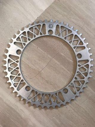 Silver Factory Five lattice chainring
