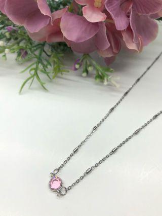 🚚 Handmade Necklace - Pink Swarovski Crystal Stainless Steel Necklace