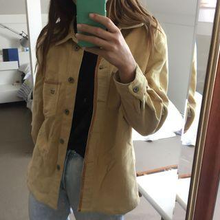Sand yellow corduroy jacket