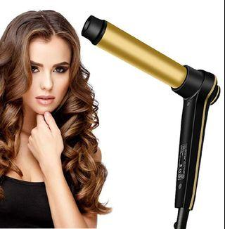 Professional 1.25 inch Curling Iron, Ceramic Tourmaline Smart Memory Curly Hair Curler Curl Bar 32mm Salon Curling Wand with Heat-resistant Glove Dual Voltages