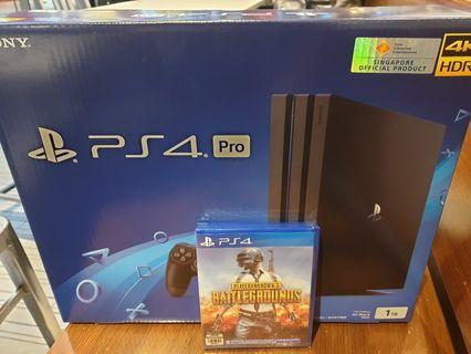 🚚 Brand New PS4 Pro 1TB + PUBG Game Package