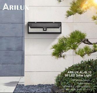 AL-SL12 80 LED Solar Lamp PIR Motion Sensor Outdoor Solar Powered LED Garden Light Waterproof Emergency Wall Light Lamp