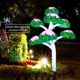 [Pre Order] Custom made Artificial Mushroom Tree LED Light Outdoor Decoration Custom Size (Not Real Price)