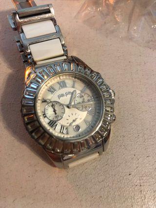 Premium Folli Follie White Ceramic Metal Band Classy Watch
