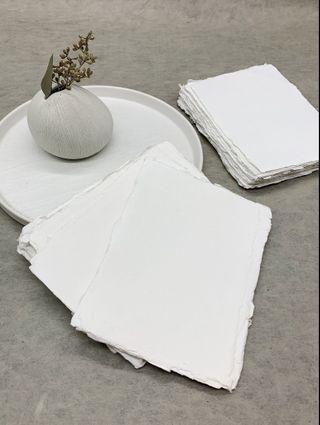 Handmade Cotton Rag Deckle Edge Paper from India 高質手造紙