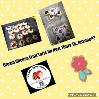 🚚 Cream cheese fruit tarts