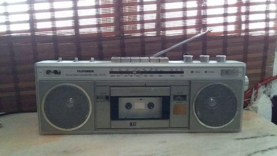 Vintage 80s Telefunken RK50 stereo radio cassette