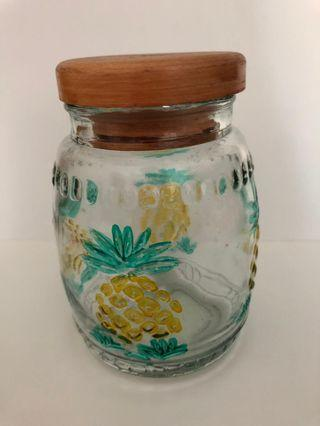 🚚 Glass Container - Pineapple