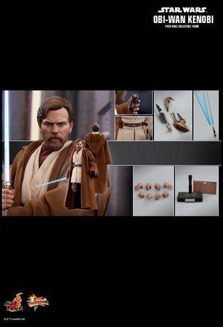 *PO* Hot Toys Star War Episode III 1/6th scale Obi-Wan Kenobi (Regular Version) Collectible Figure Legendary Jedi Master, Obi-Wan Kenobi