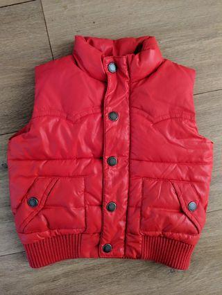 Country Road Baby Boy Girl Unisex Winter Vest Red Size 0 (6-12 Months)