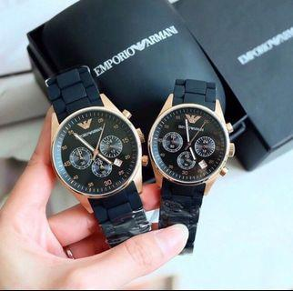 💐 Special OFFER 💐Couple Emporio Armani Sportivo Watch AR5905 and AR5906