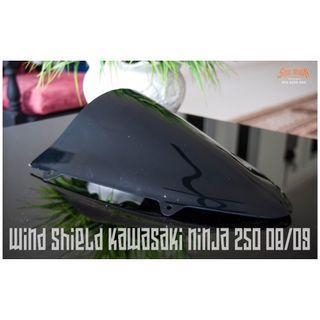 Wind Shield Kawasaki Ninja 250 2013 Black Color