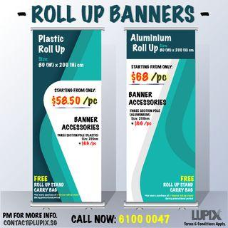 CHEAP QUALITY ROLL UP PULL UP BANNERS