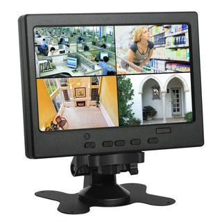 (E1640) Koolertron 7 inch CCTV Monitor LCD Monitor with HDMI/VGA/AV Port Support 1080P for DSLR/PC/CCTV Camera/DVD/Car Backup Camera/Home Office Surveillance Secure System