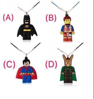 (12/4) Free normal mail - Superhero theme chain / necklace for children party gifts