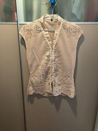 Peranakan embroidered top