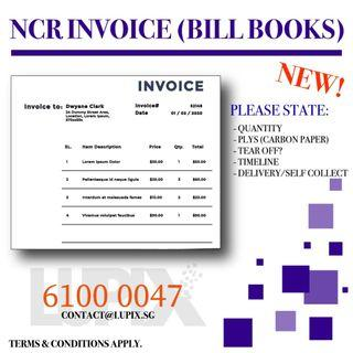 NCR PAD/INVOICE/RECEIPTS