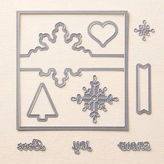 Stampin' Up Snowflake Card Thinlits Dies