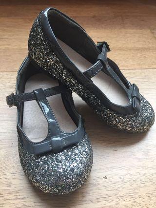 Next Girl Gray Sparkle Shoes