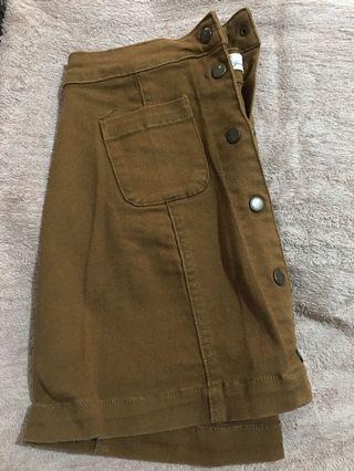 H&M Brown Denim Skirt