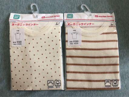 全新日本Akachan純棉短袖衫2件$90[95碼]