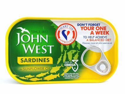 John West 葵花籽油渣甸120克