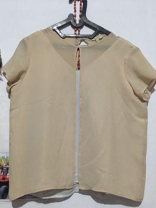 Et cetera cream blouse