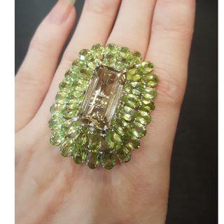 gemstone ring 925