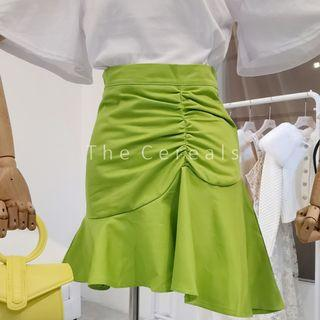 TC3487 Korea Little Mermaid Short Skirt (Neon Green,White,Pink,Black)