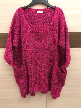 🚚 針織桃紅 冬天毛衣