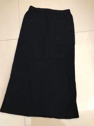 韓國製 後開叉 長裙