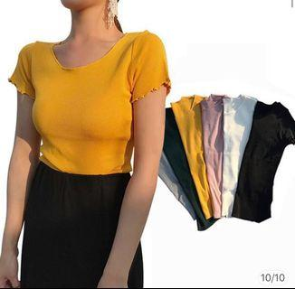 Yellow and Pink Plain T-shirt