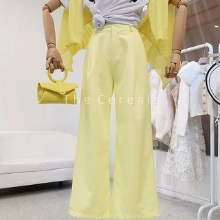 TC3488 Korea High Waist Flared Pants (Yellow,Black)