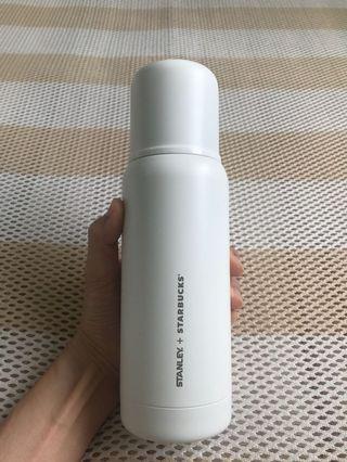 Stanley 星巴克 聯名 白色 不鏽鋼保溫瓶