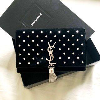 YSL Wallet on chain WOC Handbag Kate Tassel Chain Wallet Clutch Crossbody Bag 晚宴袋 晚裝袋 手包 手提包 銀包 小手袋 手袋