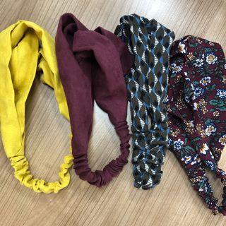 🈹清貨減價!韓版復古花橡筋頭飾 髮帶 髮箍 頭巾 頭帶