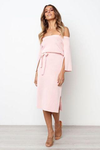 Petal & Pup Off Shoulder Dress