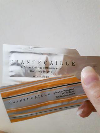 🚚 香緹卡 鑽石級精華液+防曬修護隔離乳 1.5ml